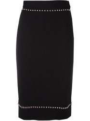 Givenchy Studded Pencil Skirt Black