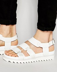 Asos Sandals In White With Shark Sole White