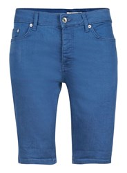 Topman Blue Skinny Stretch Denim Shorts