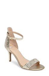 Women's Bp. 'Luminate' Open Toe Dress Sandal Gold Crackle Faux Leather