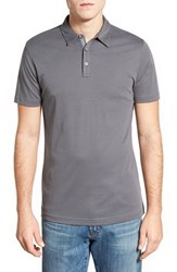 Men's Robert Barakett 'Dalton' Pima Cotton Polo Smoke