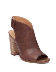 Lucky Brand Lizette Peep Toe Booties Brown