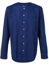 321 Collarless Shirt Blue