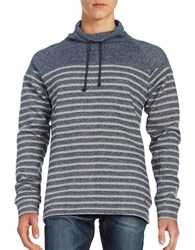 Tommy Bahama Stand Collar Striped Sweatshirt
