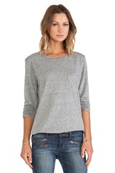 Ever Hamilton Long Sleeve Pocket Tee Gray