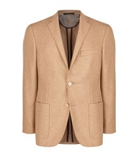 Corneliani Soft Construction Cashmere Jacket Male Beige