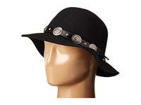 San Diego Hat Company Wfh8002 Round Crown Floppy With Faux Silver Concho Band Black Caps