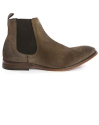 Hudson Patterson Taupe Suede Chelsea Boots