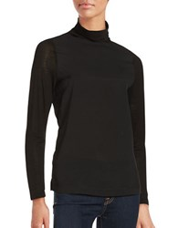 French Connection Solid Turtleneck Pullover Black
