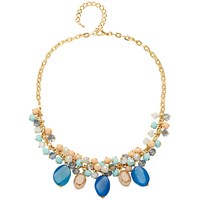 Adele Marie Glass Bead Necklace Blue Multi