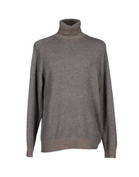 Alpha Massimo Rebecchi Knitwear Turtlenecks Men Grey