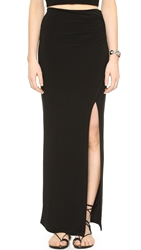 Air By Alice Olivia High Slit Maxi Skirt Black