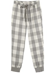 Fat Face Wilsford Check Cuffed Pyjama Bottoms Grey Marl