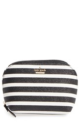 Kate Spade New York Small Glitter Annabella Cosmetics Case