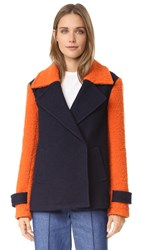 Diane Von Furstenberg Kenzly Coat Burnt Orange Midnight