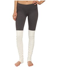 Alo Yoga Goddess Ribbed Legging Stormy Heather Natural Women's Workout Gray