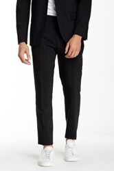 Kenneth Cole Black Pinstripe Flat Front Pant 30 34 Inseam