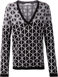 Versace Collection Geometric Print Sweater Black