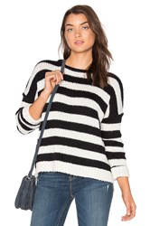 Velvet By Graham And Spencer Maddilyn Sweater Black And White