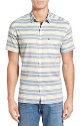 Men's Quiksilver 'The Aventail' Trim Fit Short Sleeve Stripe Woven Shirt