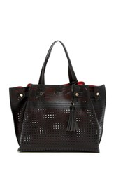 Urban Expressions Cadence Perforated Tote Bag Black