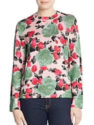 Marc By Marc Jacobs Jerrie Rose Print Sweater Multi