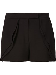 Elie Saab Tailored Ruffle Shorts Black