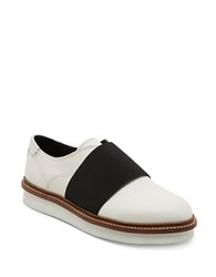 Dolce Vita Saxon Leather Laceless Oxfords White
