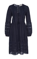 Sea Picnic At Hanging Rock Lace Dress Navy