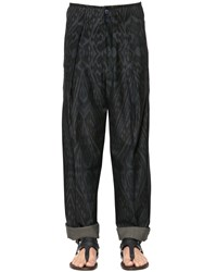 Etro Print Cotton And Wool Twill Oversize Pants