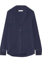 Equipment Adalyn Washed Silk Shirt Storm Blue
