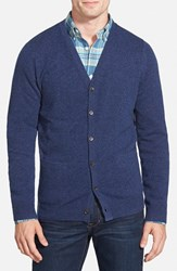 Men's Big And Tall Nordstrom Cashmere Cardigan Blue Estate Heather