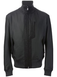Y 3 High Collar Bomber Jacket Black