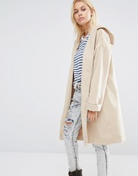 Glamorous Relaxed Fit Coat Stone Beige