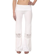 Nightcap Crochet Beach Pants White Women's Casual Pants