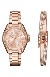 Michael Michael Kors Women's Bracelet Watch And Bangle Set 39Mm