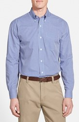 Men's Cutter And Buck 'Epic Easy Care' Classic Fit Wrinkle Free Gingham Sport Shirt French Blue
