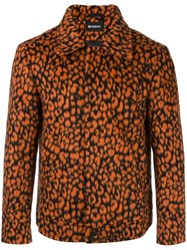 Misbhv Short Leopard Print Jacket Yellow Orange