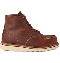 Red Wing Shoes Classic Moc Leather Boots Brown