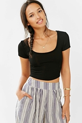 Truly Madly Deeply Cropped Layer Cake Tee Black