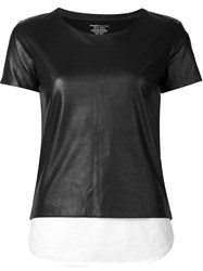 Majestic Filatures Inset Detail T Shirt Black