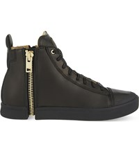 Diesel S Nentish Leather High Top Trainers Black