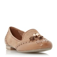 Dune Loki Brogues Tassel Detail Loafers Tan