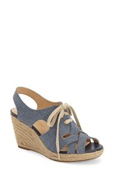 Women's Bella Vita 'Gracia' Espadrille Sandal Blue Canvas