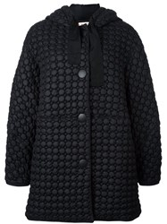 Marni Quilted Down Coat Black