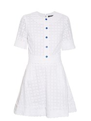 House Of Holland Broderie Anglaise Trim A Line Dress