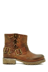 Nasty Gal Jeffrey Campbell 1949 Moto Boot Brown
