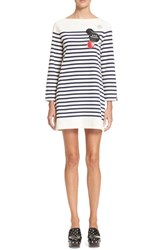 Marc By Marc Jacobs Women's Marc Jacobs Embellished Breton Stripe Shift Dress