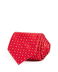 Bloomingdale's The Men's Store At Large Alternating Dots Classic Tie Red