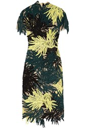 Erdem Cheryl Guipure Lace Midi Dress Green